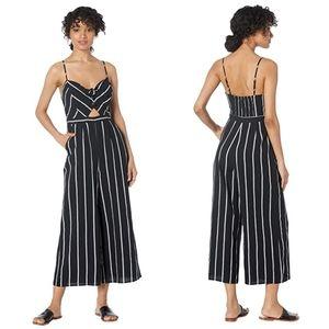 New! ASTR The Label Dylan Black Striped Jumpsuit